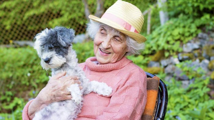 Die alte Frau und ihr Hund
